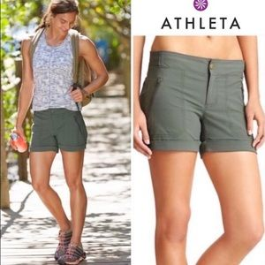 Athleta Trekkie Zip Pocket Athleisure Shorts